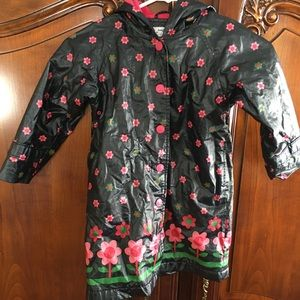 Baby Gap Girls 5 Floral Rain Coat Jacket Lined